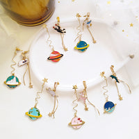 Dangly Galactic Charm Earrings (6 Styles)