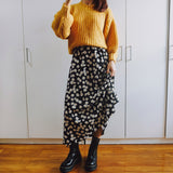 Daisy Midi Skirt (Black)