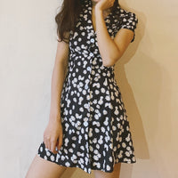 Daisy Button Up Dress (Black)