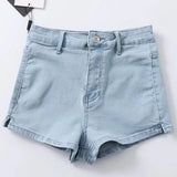 Summer High Waist Denim Shorts (3 Colors)