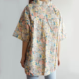 Pastel Floral Button Up Shirt (Pink/Blue)