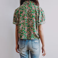 Daisy Cropped Button Up Shirt (3 Colors)