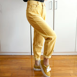 Corduroy Mom Jeans (Yellow)