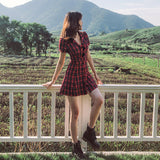Button Up Plaid Dress (3 Colors)