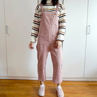 Corduroy Overalls (Blush Pink)