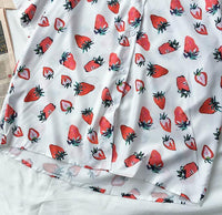 Strawberry Button Up Shirt (White)