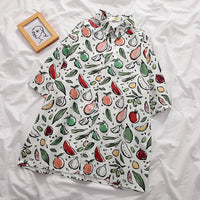 Fruity Button Up Shirt (White)