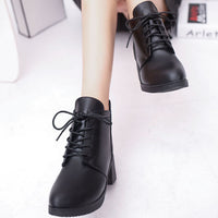 Lace Up Booties (Black)