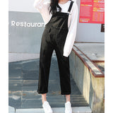 Distressed Cropped Denim Overalls (2 Colors)