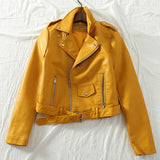 Cropped Faux Leather Moto Jacket (4 Colors)