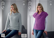 Load image into Gallery viewer, King Cole Pattern 3912: Sweater and Gilet