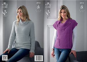King Cole Pattern 3912: Sweater and Gilet