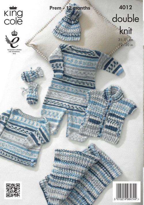 King Cole Pattern 4012: Baby Set