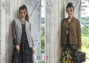 King Cole Pattern 5076: Cardigan and Waistcoat