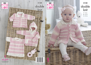 Kingcole Pattern 5158: Sweater with Hood, Angel Top & Jacket
