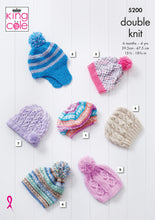 Load image into Gallery viewer, Kingcole Pattern 5200: Hats 6 Months to 4 Years