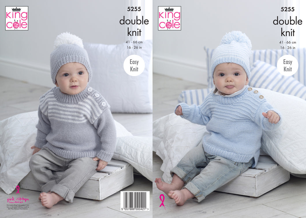 Kingcole Pattern 5255: Sweaters & Hats