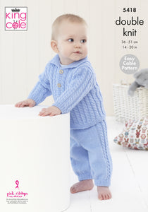 King Cole Pattern 5418: Babies jacket & trousers