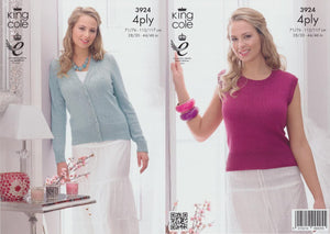 King Cole Pattern 3924: Cardigan & Top