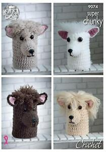 King Cole Pattern 9074: Crochet Andre The Alpaca Double Toilet Roll Cover/ Doorstop