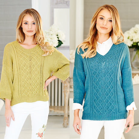 Stylecraft Pattern 9512: Sweater and Cardigan