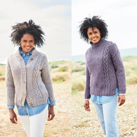 Stylecraft Pattern 9812: Sweater and Jacket