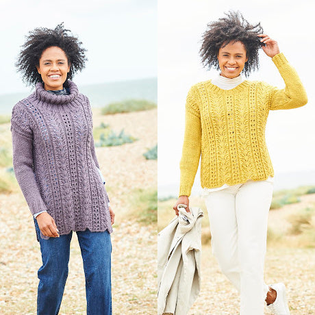 Stylecraft Pattern 9815: Sweater and Tunic