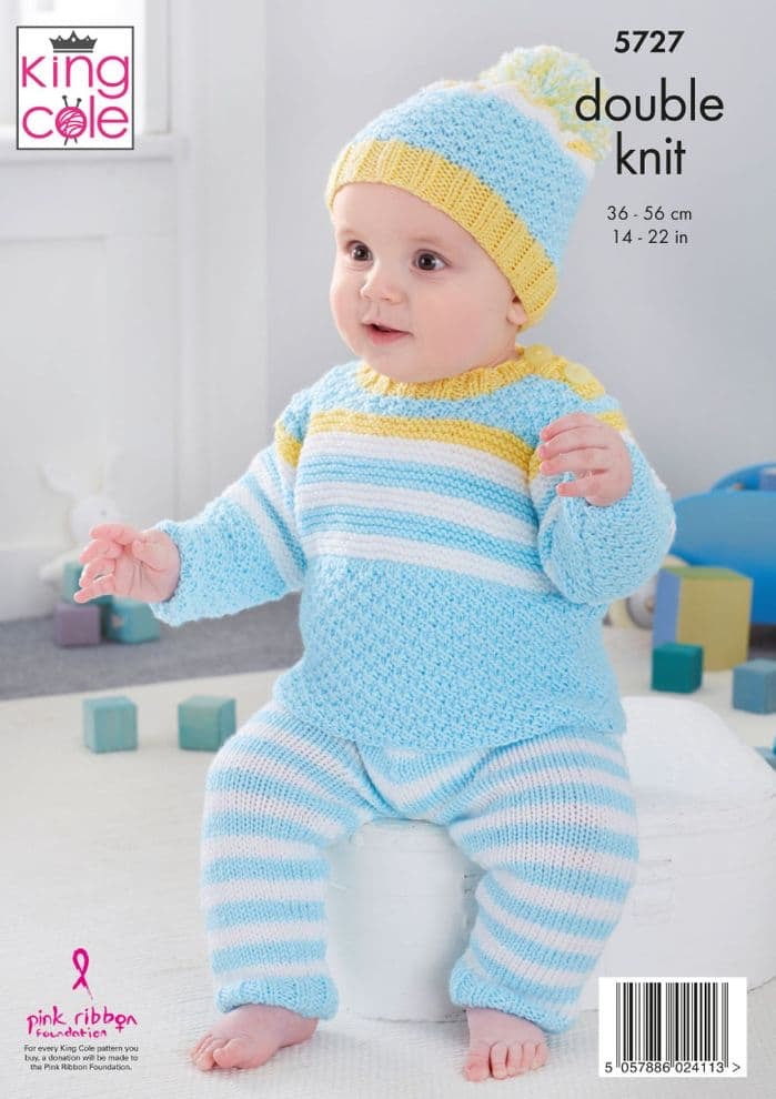 King Cole Pattern 5727: Baby Set