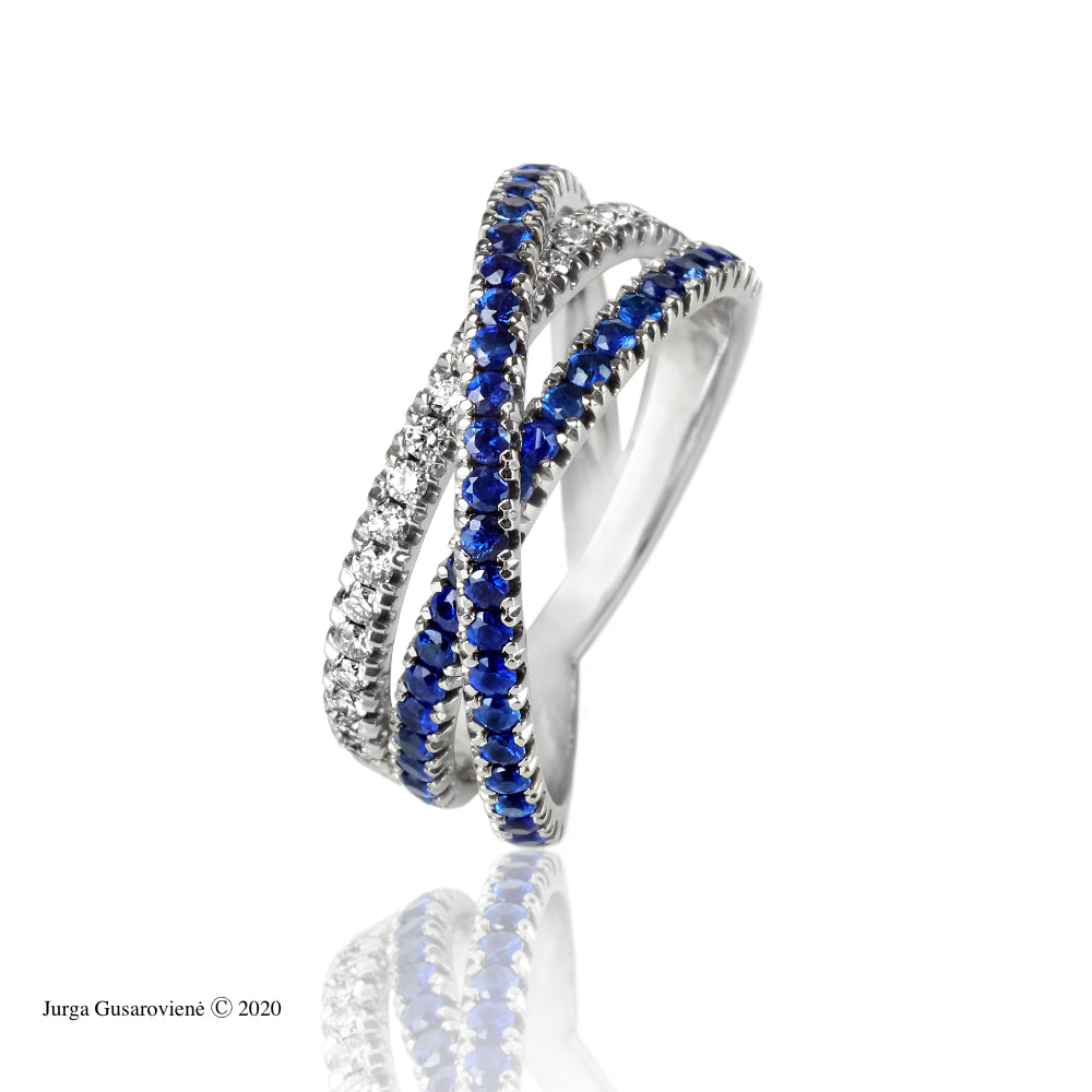 Sapphire Dream with Diamonds