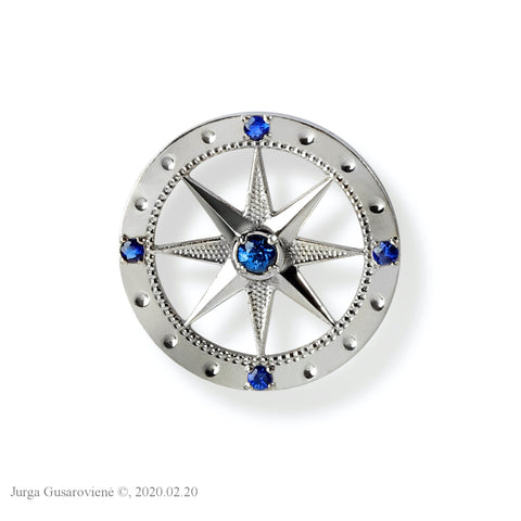 Compass Badge Brooch