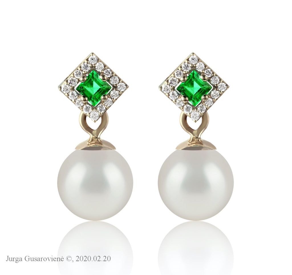 Emerald Lagoon Earrings