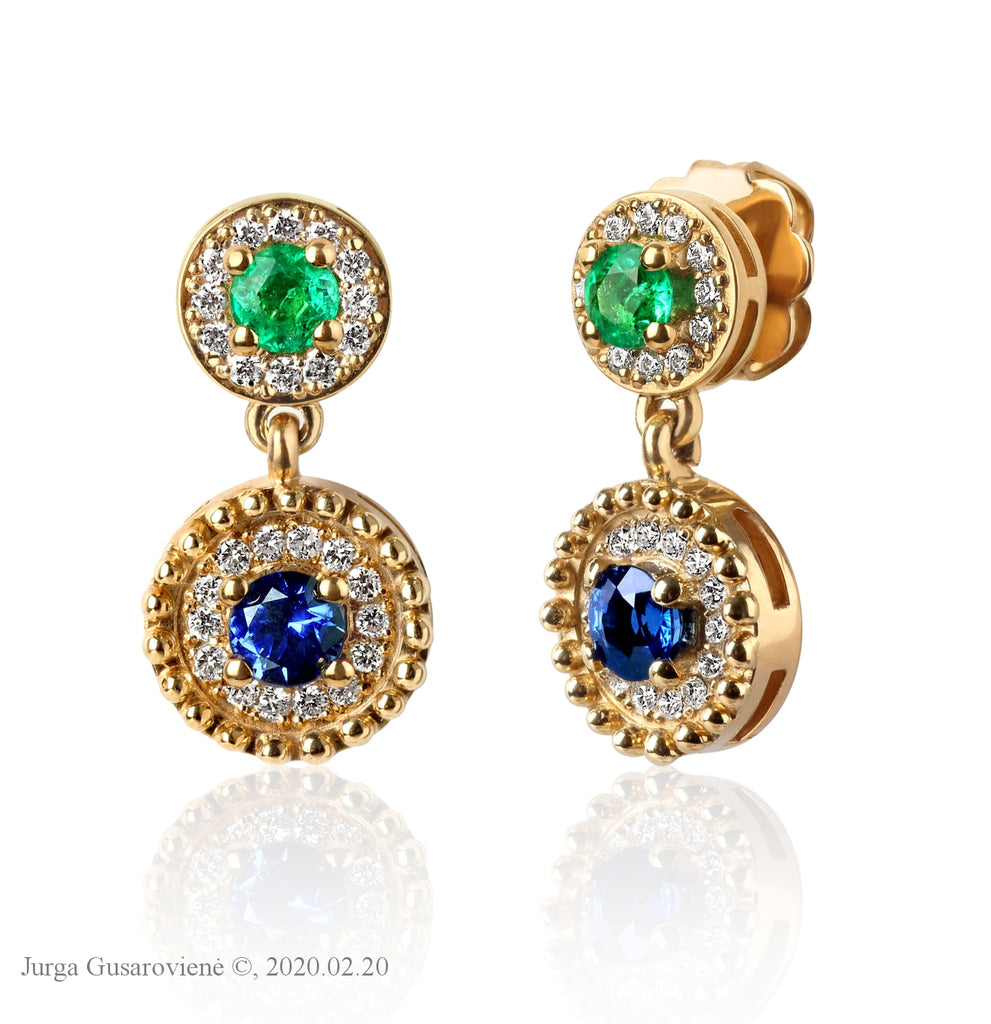 Fairytale With Emeralds Earrings