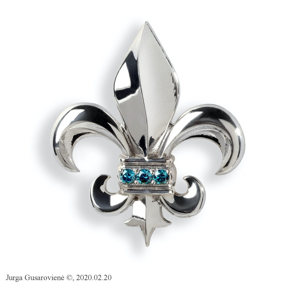 Lily Badge Brooch