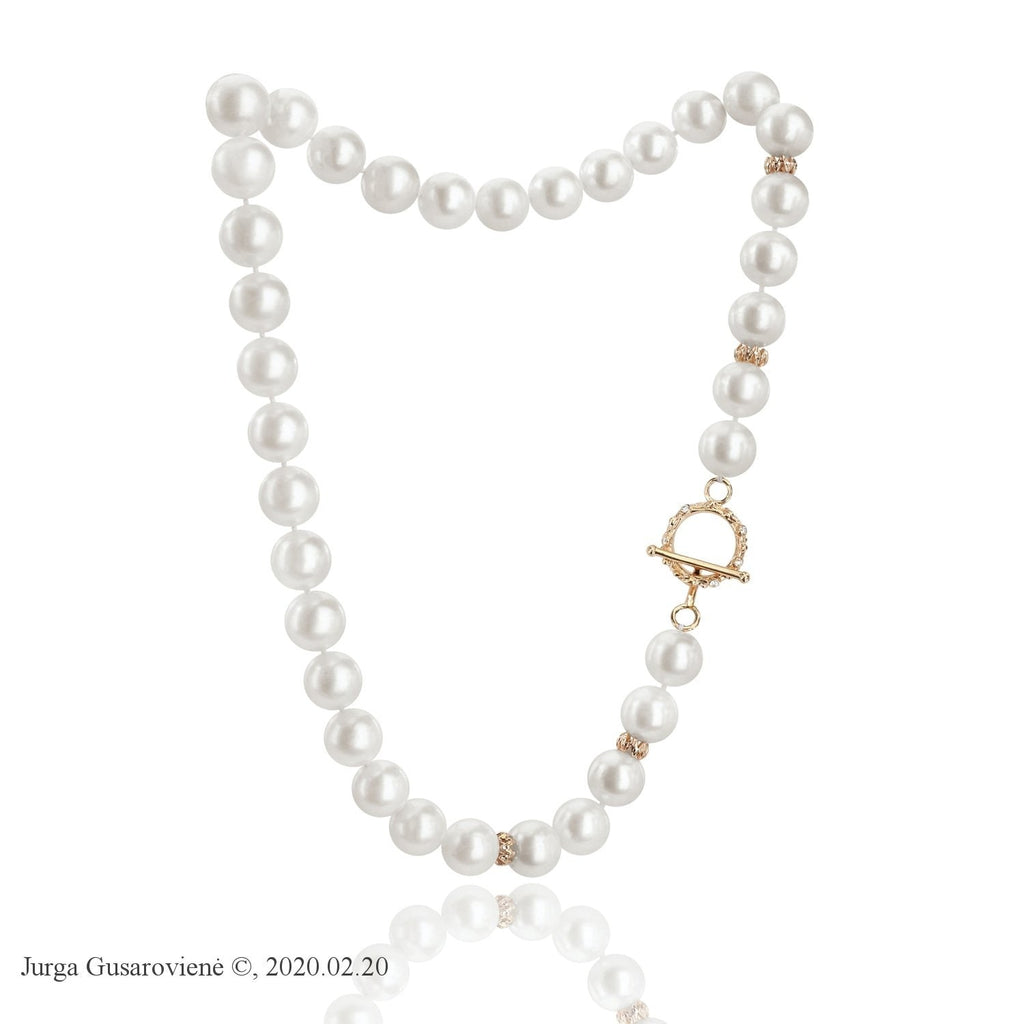 Pearl And Diamonds Necklace