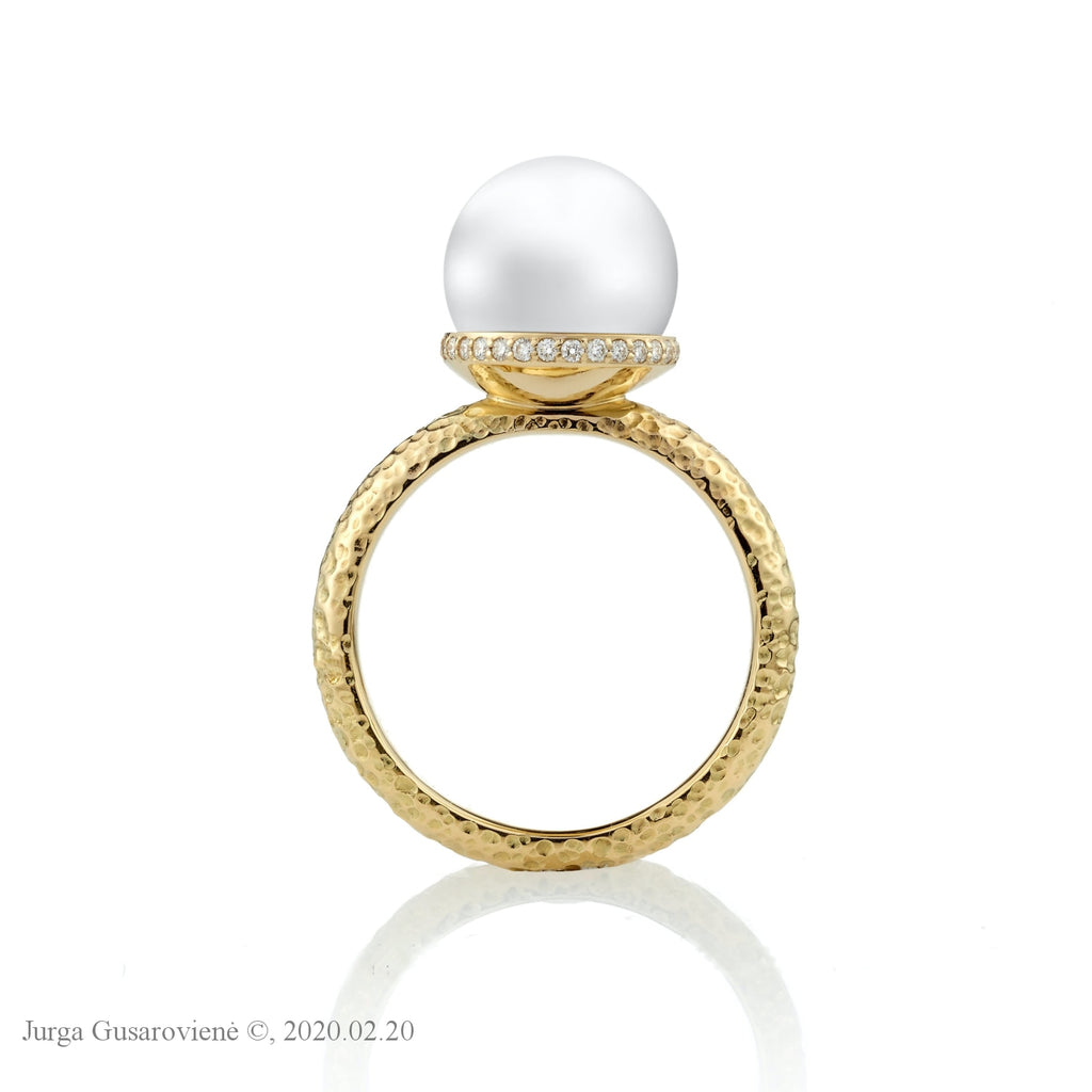 Pearl Ring With Diamonds Rings