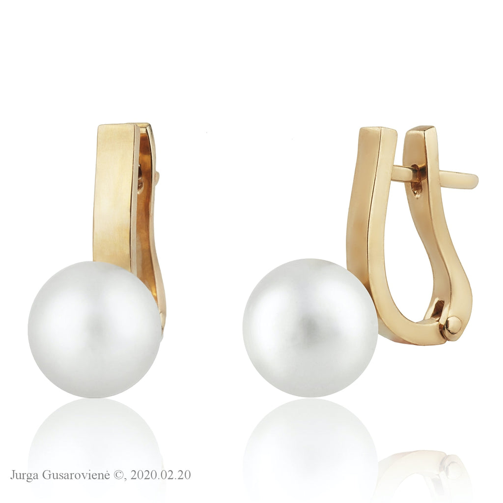 Swinging Pearls Earrings Jurga Gusaroviene
