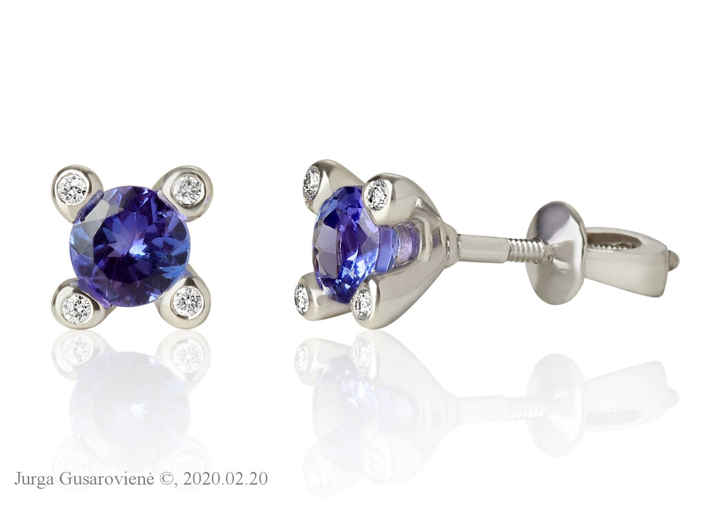 Tanzanite Eyes Earrings