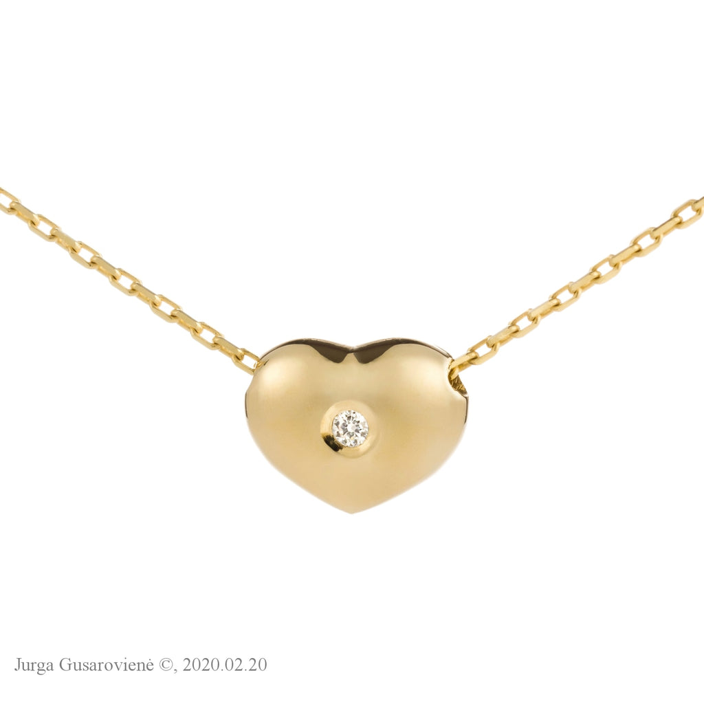 Two- Sided Collier Little Heart Pendants