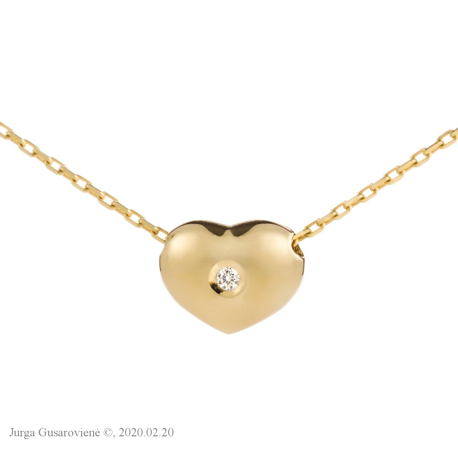 Two- Sided Collier Little Heart