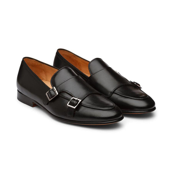 Black Classic Monk Slipon