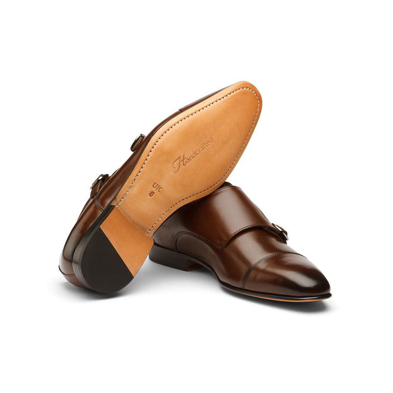 Brown Sleek Captoe Monk Starps