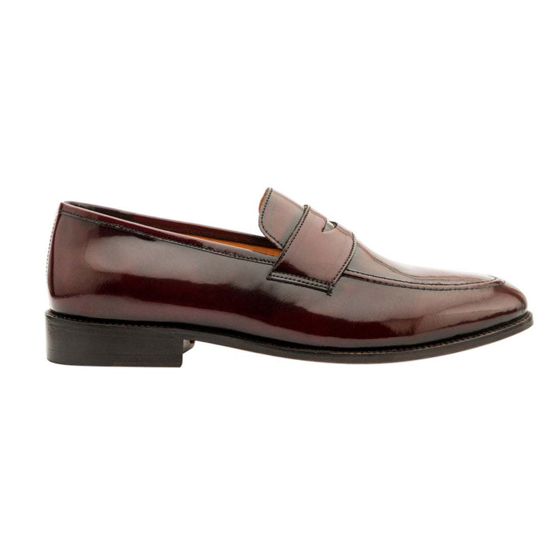 Brushed Burgundy Penny  Loafers