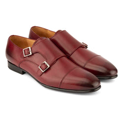 Burgundy Double Monk Straps