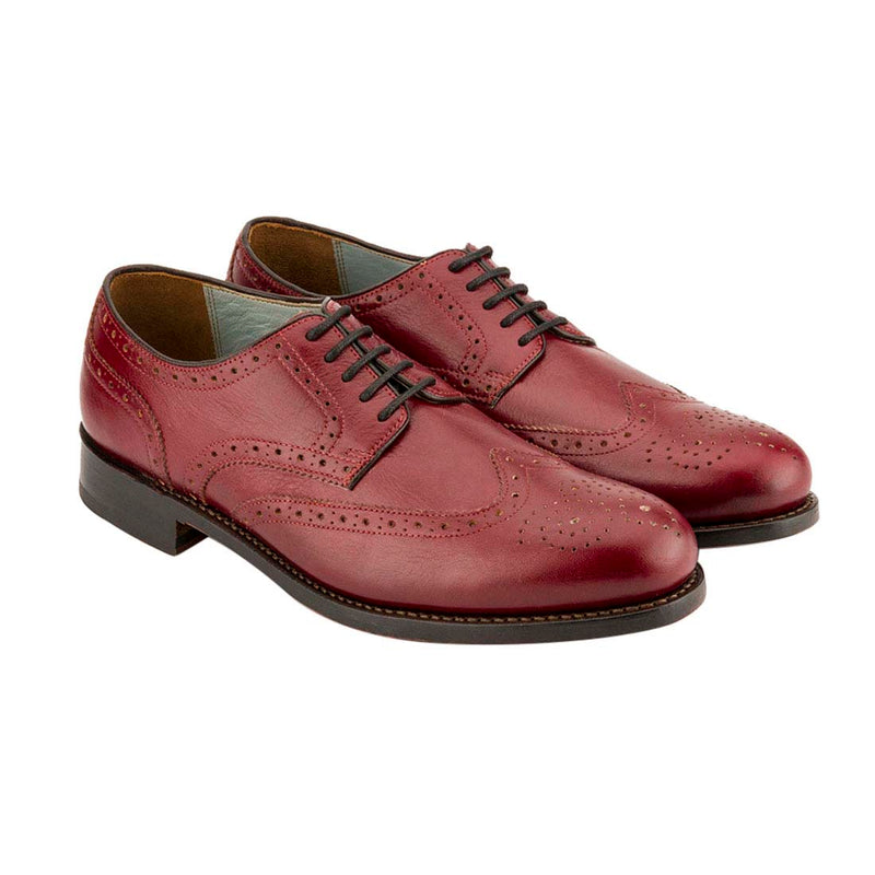 Red Goodyear Welted Brogues