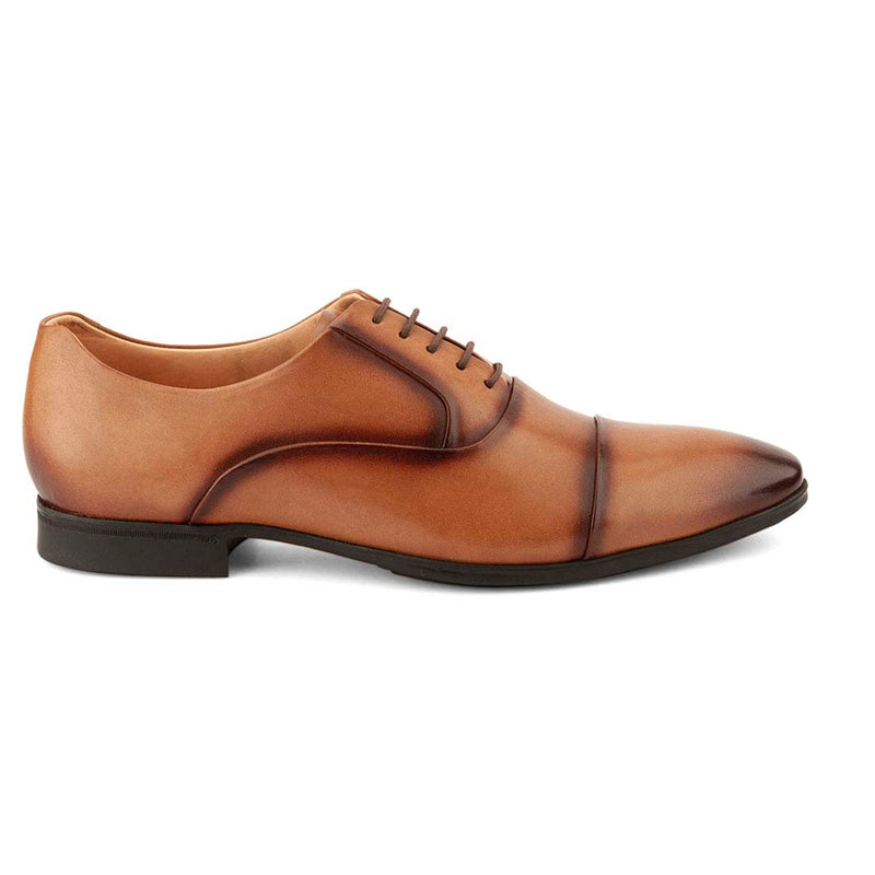 Burnished Tan Cap Toe Oxfords