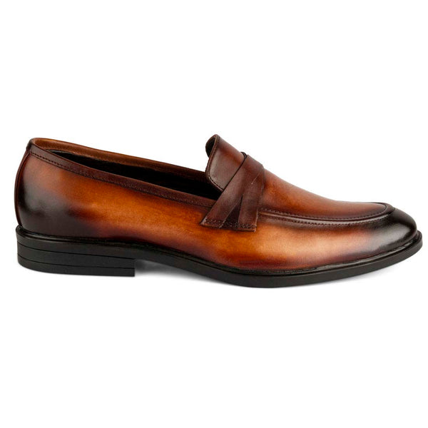Burnt Tan Patina Loafers