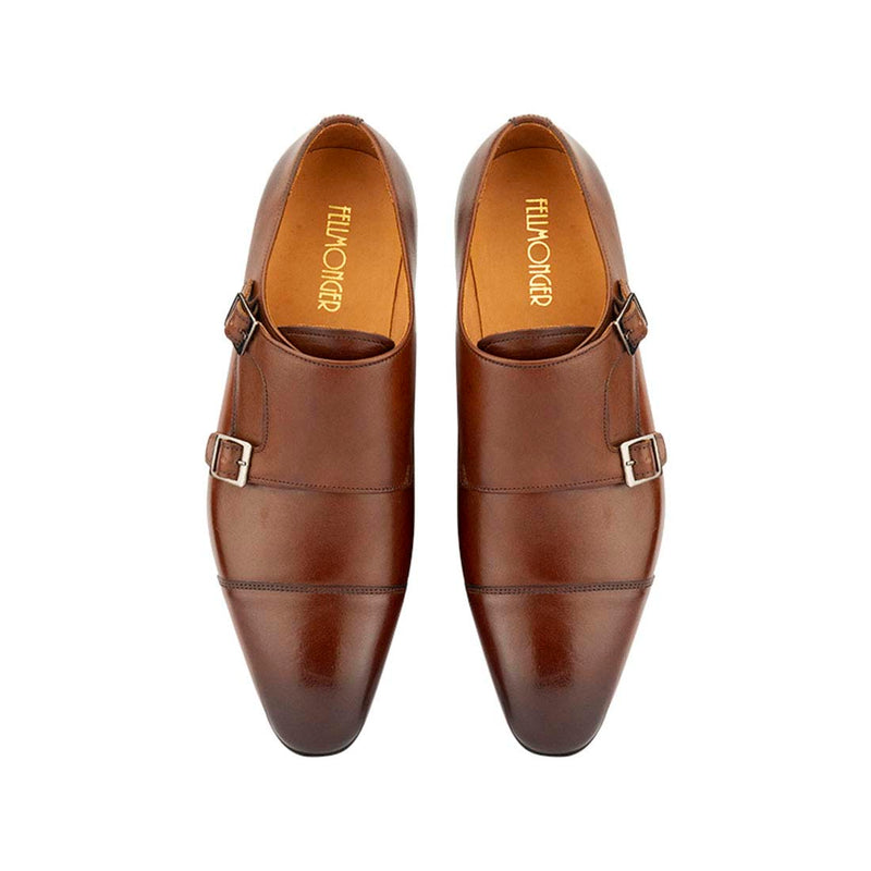Chocolate Brown Double Monk Straps