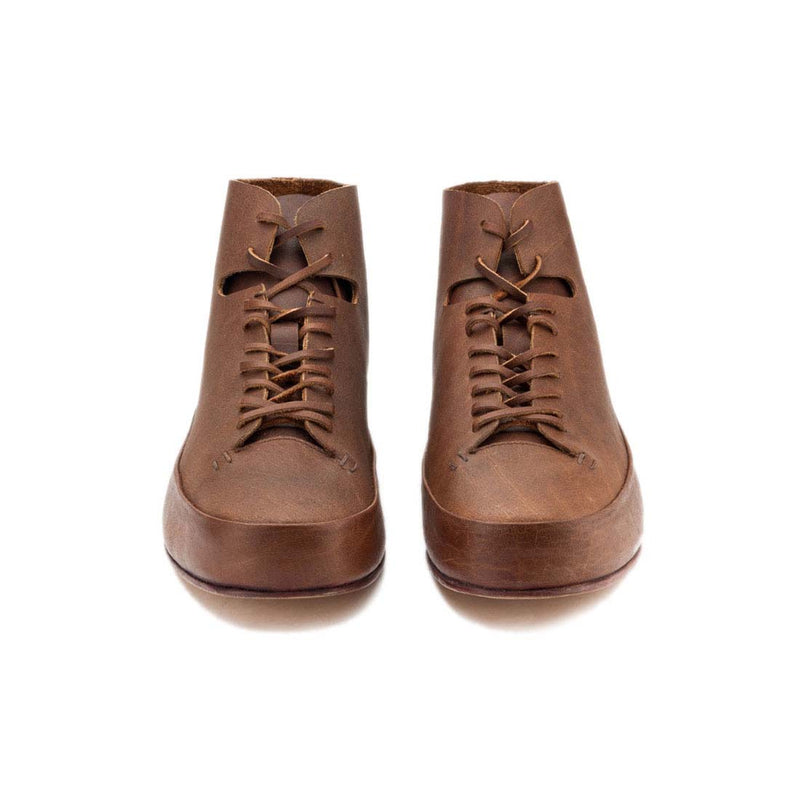 Chestnut Leather Ankle Boots