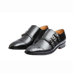 Black Triple Monk Straps