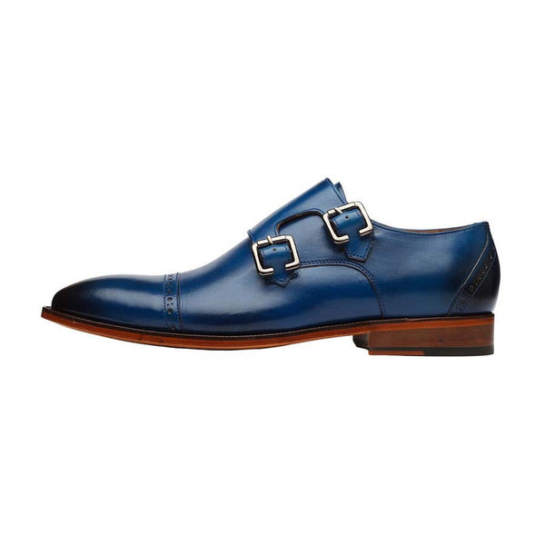 Blue Captoe Double Monk Straps